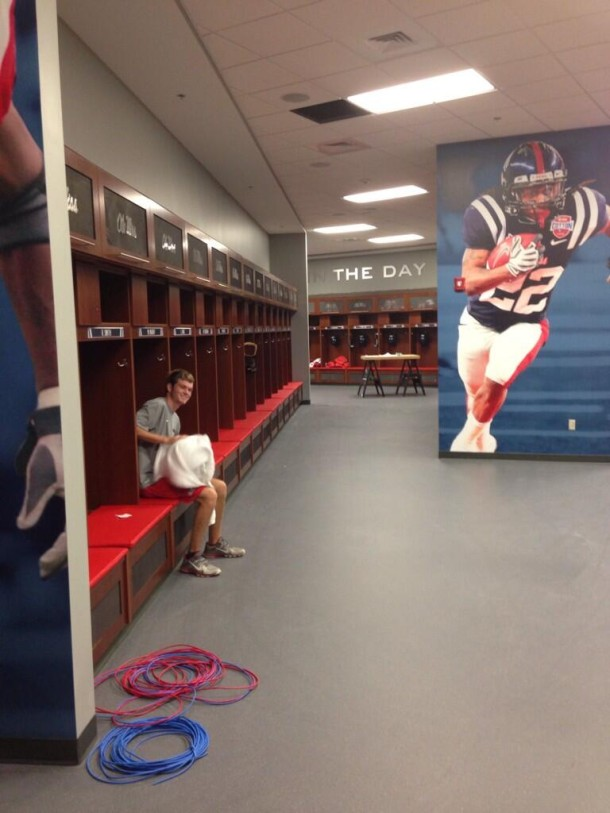 Ole Miss locker room