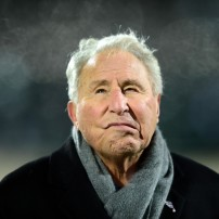 Nov 8, 2014; East Lansing, MI, USA; ESPN television analysis Lee Corso on the sidelines at Spartan Stadium. Mandatory Credit: Andrew Weber-USA TODAY Sports