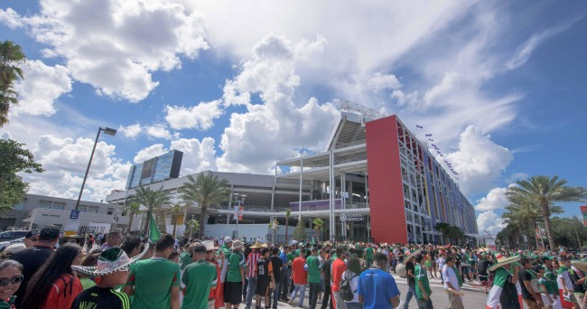 Jun 27, 2015; Orlando, FL, USA; A general view of the stadium before the game between Mexico and Costa Rica at the Orlando Citrus Bowl. Mandatory Credit: Jerome Miron-USA TODAY Sports
