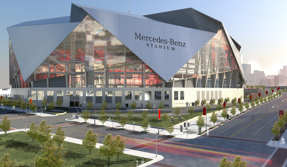 the mercedes benz stadium and the falcons what does this