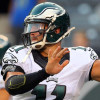 Sep 3, 2015; East Rutherford, NJ, USA; Philadelphia Eagles quarterback Tim Tebow (11) throws a pass before a game against the New York Jets at MetLife Stadium. Mandatory Credit: Brad Penner-USA TODAY Sports