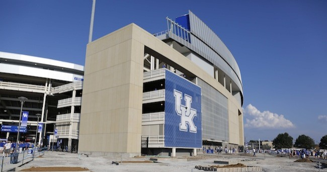 Sep 5, 2015; Lexington, KY, USA; A general view of Commonwealth Stadium before the game against Louisiana Lafayette Ragin Cajuns. Kentucky defeated Louisiana Lafayette 40-33. Mandatory Credit: Mark Zerof-USA TODAY Sports
