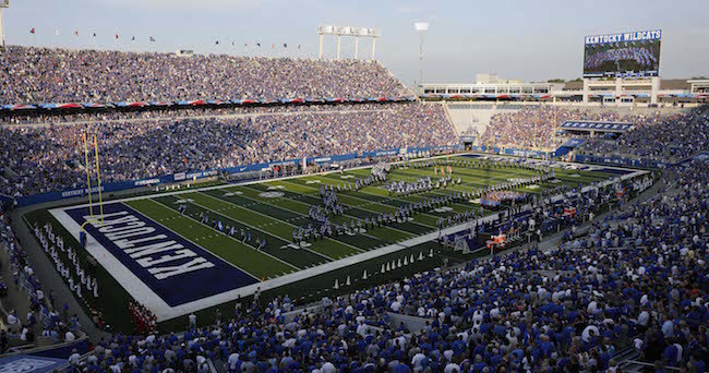 Sep 5, 2015; Lexington, KY, USA; A general view of Commonwealth Stadium before the game against the Louisiana Lafayette Ragin Cajuns. Kentucky defeated Louisiana Lafayette 40-33. Mandatory Credit: Mark Zerof-USA TODAY Sports