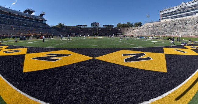 Sep 19, 2015; Columbia, MO, USA; A general view of the field before the game between the Missouri Tigers and Connecticut Huskies at Faurot Field. Mandatory Credit: Denny Medley-USA TODAY Sports