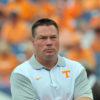 Sep 5, 2015; Nashville, TN, USA;  Tennessee Volunteers head coach Butch Jones prior to the game against the Bowling Green Falcons at Nissan Stadium. Mandatory Credit: Jim Brown-USA TODAY Sports