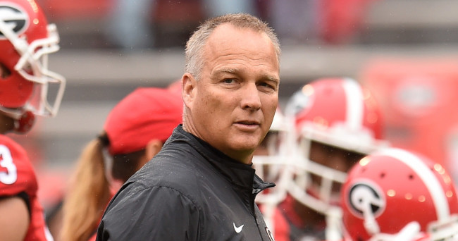 Sep 26, 2015; Athens, GA, USA; Georgia Bulldogs head coach Mark Richt shown on the field prior to the game against the Southern University Jaguars at Sanford Stadium. Mandatory Credit: Dale Zanine-USA TODAY Sports