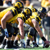 Oct 3, 2015; Columbia, MO, USA; Missouri Tigers offensive lineman Evan Boehm (77) looks down the line before the play against the South Carolina Gamecocks during the second half at Faurot Field. The Tigers won 24-10. Mandatory Credit: Jasen Vinlove-USA TODAY Sports