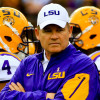 Oct 17, 2015; Baton Rouge, LA, USA; LSU Tigers head coach Les Miles before a game against the Florida Gators at Tiger Stadium. Mandatory Credit: Derick E. Hingle-USA TODAY Sports