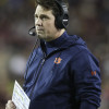 Nov 7, 2015; College Station, TX, USA; Auburn Tigers defensive coordinator Will Muschamp watches from the sideline during the second quarter against the Texas A&M Aggies at Kyle Field. Mandatory Credit: Troy Taormina-USA TODAY Sports
