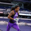 Feb 23, 2015; Indianapolis, IN, USA; Michigan State Spartans defensive back Trae Waynes runs in a workout drill during the 2015 NFL Combine at Lucas Oil Stadium. Mandatory Credit: Brian Spurlock-USA TODAY Sports