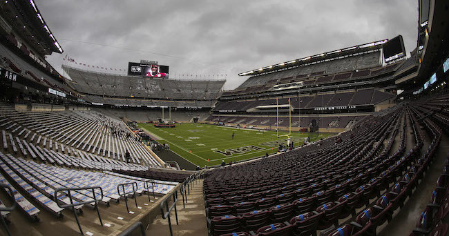 Nov 7, 2015; College Station, TX, USA; General view of Kyle Field before a game between the Texas A&M Aggies and the Auburn Tigers. Mandatory Credit: Troy Taormina-USA TODAY Sports