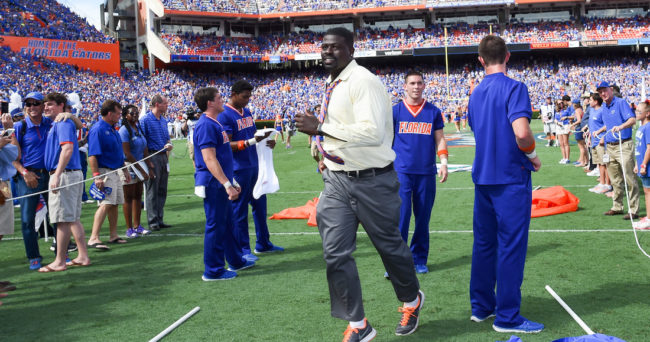 Mr2Bits-Alex Brown at the Gators' football game against the Tennessee Volunteers on Saturday, September 26, 2015 in Ben Hill Griffin Stadium on the University of Florida campus in Gainesville, FL / UAA photo by Jim Burgess