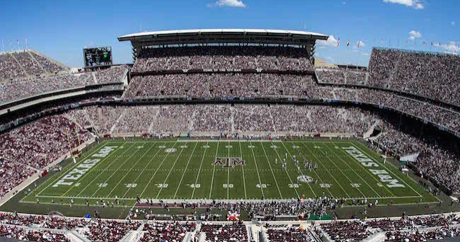 Sep 19, 2015; College Station, TX, USA; General view of Kyle Field. Mandatory Credit: Troy Taormina-USA TODAY Sports