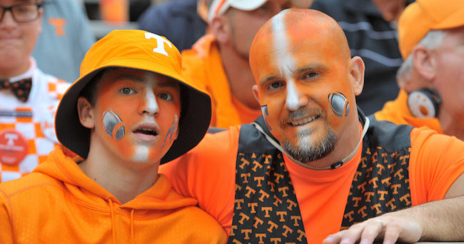 Oct 10 2015 knoxville tn usa tennessee volunteers fans chad bailey
