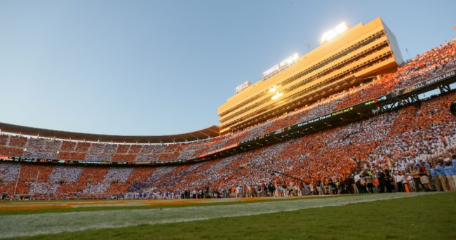 Sep 24, 2016; Knoxville, TN, USA; General view during the second half of the game between the Tennessee Volunteers and the Florida Gators at Neyland Stadium. Tennessee won 38-28. Mandatory Credit: Randy Sartin-USA TODAY Sports