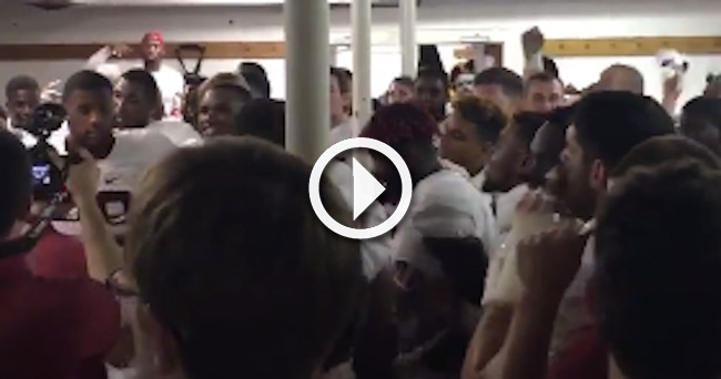 Fight In The Alabama Locker Room After Auburn Game