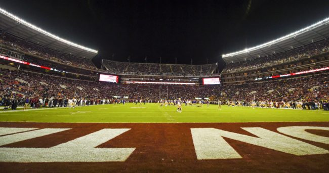 Nov 7, 2015; Tuscaloosa, AL, USA; General view of the field prior to the game between the Alabama Crimson Tide and the LSU Tigers during the first quarter at Bryant-Denny Stadium. Mandatory Credit: Shanna Lockwood-USA TODAY Sports