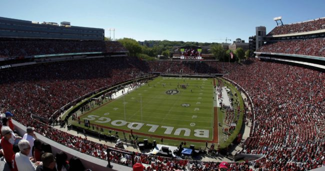 Apr 16, 2016; Athens, GA, USA; General view of Sanford Stadium during the first half of the Georgia Bulldogs Spring Game at Sanford Stadium. Mandatory Credit: Brett Davis-USA TODAY Sports