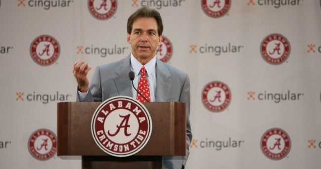 Coach Nick Saban Press Conference and Arrival Jan 2007 Coach Saban speaks  Photo by Kent Gidley Copyright © 2007, The University of Alabama. All rights reserved.  No part of this site may be reproduced without written permission.